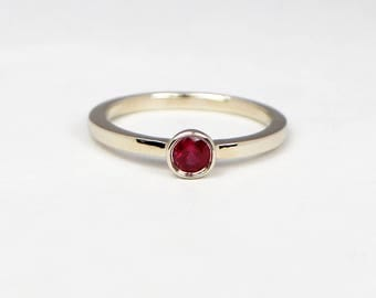 Engagement Ring-Engagement ring for women-Ruby Ring -Ruby and gold Engagement Ring.