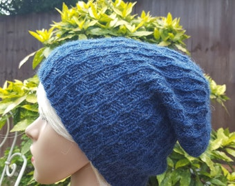High quality Wool knitted slouchy beanie hat sizes XS S M L XL, choose your color