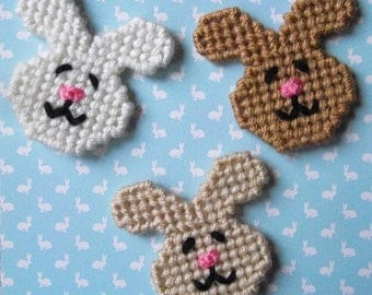 Plastic Canvas: Happy Bunnies Magnets (set of 3)