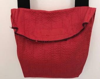 Red cotton purse