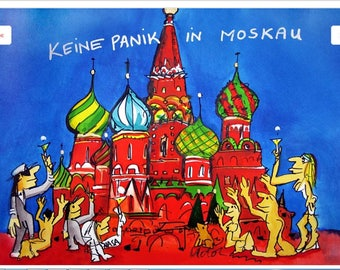 Udo Lindenberg Keine Panik in Moskau Oil painting Reproduction on linen canvas 90x120 cm