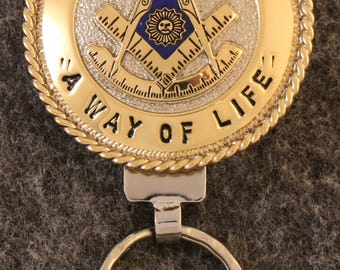 IN STOCK UNLESS Personalized Custom handcrafted Masonic key chain.  Past Master