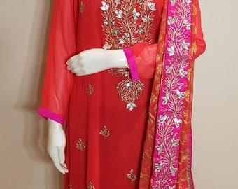 Pink Gotta Patti Plazzo suit