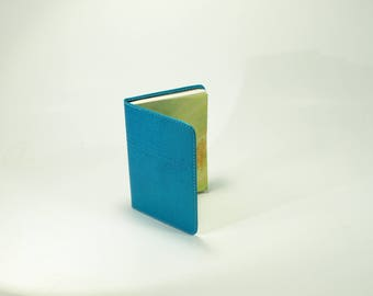 Slip Cover for Jehovah's Witnesses Small Books - Bible Teach Book Cover - Turquoise with Crocodile textured leather