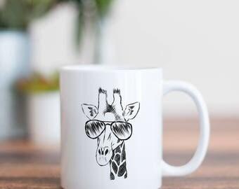 Geoffrey the Giraffe Mug - Gifts For Animal Lover, Giraffe Art, Giraffe gift, Safari Gift