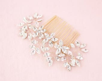 Everthine Crystal Bridal Comb Gold, Wedding Hair Accessories, Hair Comb, Hair Accessories, Gold Hair Comb, Bridal Comb, Gold Headpiece