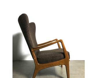 Danish Wingback Lounge Chair c1960's