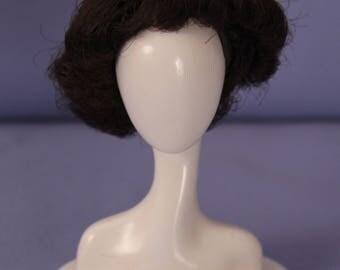 Vintage Fashion Queen Barbie Brunette Wig, Near Mint