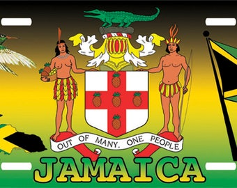 Personalized Car License Plate Holder Jamaica License Plate Tag