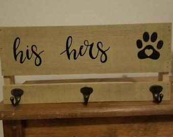 His, Hers, & Dog Key/Leash Holder