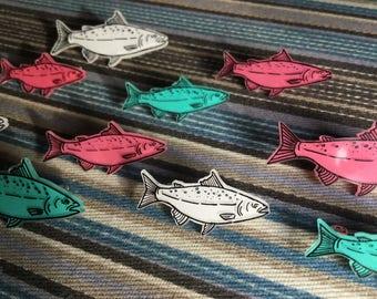 Shrinky Fish Pins
