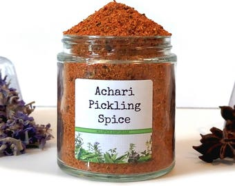 Achari Masala Pickling Spice Mix South Asian Indian Achaari Vegetable Canning Seasoning Blend Foodie Chef Cooking Gift