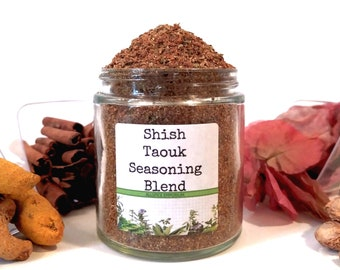 Shish Taouk Seasoning Blend Middle Eastern Arabic Lebanese Tawook Spice Mix Foodie Chef Cooking Gift