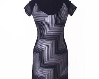 Tango Dress | Metallic Dress with Tulle Back | Milonga Dress