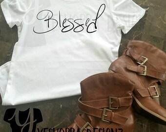 Blessed Shirt, Blessed T-Shirt, Christian Shirt, Religious Shirt, Christian Apparel, Blessed Tee, Christian T-Shirt