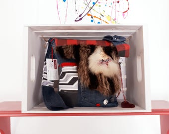 Fur bag AS clutch bag
