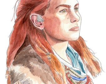 Aloy from Horizon Zero Dawn A4 Print