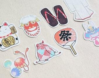 Japanese Doll's Cards, Kawaii Cards