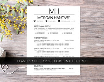Resume Mechanical Engineer Pdf Resume Template  Etsy Resume Design Inspiration Excel with Find Resumes Online Free Word Flash Sale  Resume Template Pack  Word  Pages Compatible  Cover Letter  Thank Resume Exaples Word