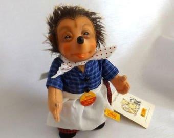 CIJ SALE Vintage Steiff Girl Hedgehog - Micki Steiff Hedgehog Doll -  350603 w Original Tags, Ear Button, Retail Hang Tag and Steiff Box