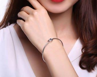 Knot Sterling Silver Bracelet - Bangle Bracelet - Bridesmaid Bracelet - Love Knot Bracelet - Delicate Bracelet - Knot Bangle - 925 - ALB0072