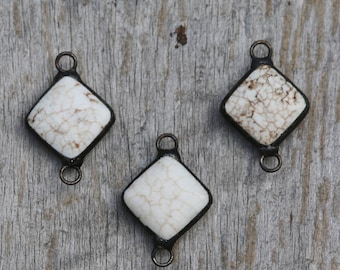 Soldered White Magnesite Pendant
