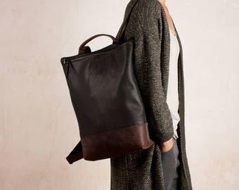 LEATHER BACKPACK brown, backpack black, laptop backpack, man backpack large, leather backpack purse, leather backpack women, zipper backpack