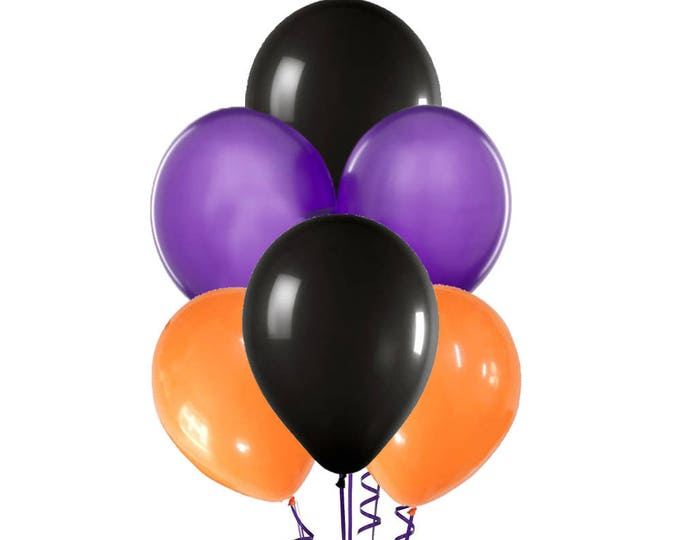 Halloween Balloon Spray, Orange Purple and Black Balloons, Orange, Black and Purple Balloons, Halloween Balloon,Halloween Party Decorations