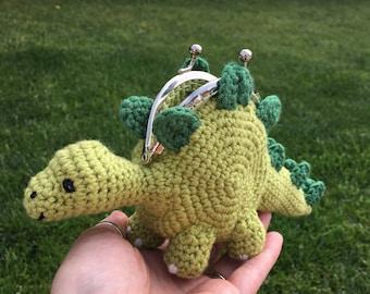 Dinosaur Coin Purse Crochet Pattern