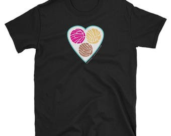 TRES PUNTOS de SABOR Pan Dulce Concha Short-Sleeve Unisex T-Shirt