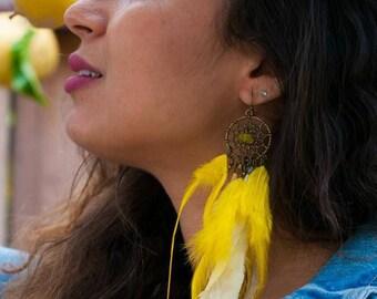 """Unique earring Collection """"Gilles du Vent"""" ... (lemon)"""