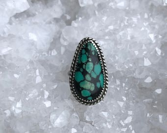 Turquoise Detailed Sterling Silver Ring 5