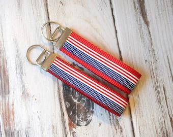 American Flag Key fob, key ring