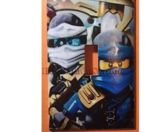 Lego Ninjago Ninji characters Light Switch Power Outlet Cover Plate Home decor