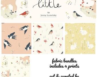NEW!! Fat Quarter Bundle - Woodland Fabric - Organic Fabric by the Yard - Fabric Bundle - Birch organic fabrics - Little Collection