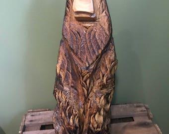 Chainsaw Carving Medium Brown Bear
