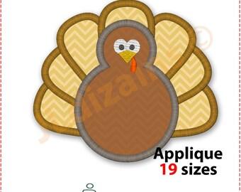 Turkey Applique Design. Turkey embroidery design Turkey monogram applique design Turkey monogram embroidery design Machine embroidery design