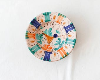Vintage plate-wall hanging plate-Ceramic plate-Decoration-Wall decor hanging-Handmade art plate-Ceramic wall plate-Vintage Gift