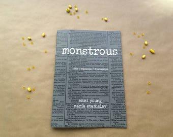 Monstrous - zine, fanzine, discussion