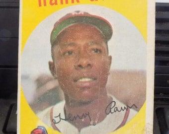 1959 Topps Baseball Hank Aaron #380 Milwaukee Braves See Scans