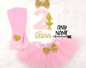 girls second birthday outfit baby girls second birthday outfit ballet second birthday ballerina second birthday outfit ballet birthday shirt