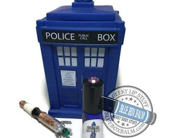 """Sonic Scent - HELLO SWEETIE - """"River Song"""" Doctor Who Inspired Body Scent - Sweet Tarts Candy Fragrance in a Blue Glass Roller Bottle"""