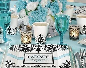 Love Forever Wedding Dinner Plates Reception Bridal Shower Anniversary