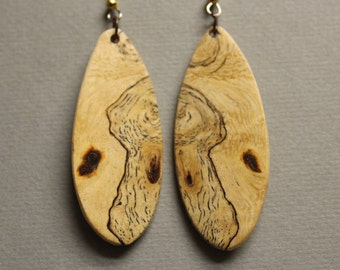 Stunning Sindora Burl Earrings Exotic Wood ExoticWoodJewelryAnd handcrafted Drop Dangle Repurposed