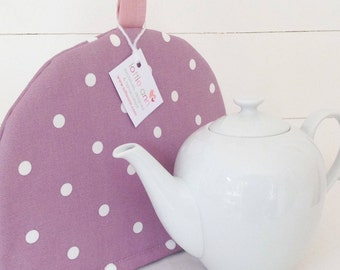 Tea Cosy, Purple Dotty Tea Cosy, Purple Tea Cosy, Tea Cosy, Kitchen Accessory, Time for Tea, Kitchen, Gift