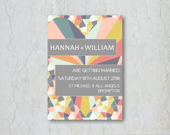 Geometrics Wedding Invitation