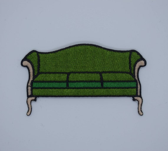 Emerald Green Vintage Couch Iron on Patch