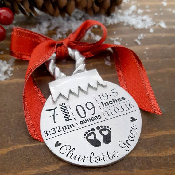 New Baby Christmas Ornament Personalized Baby Ornament New