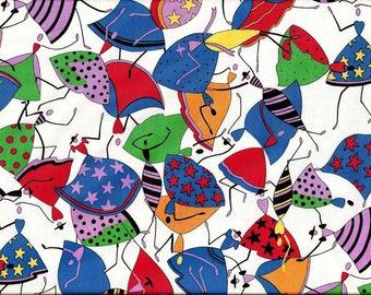 tissu coton patchwork - Vente au mètre - A PRIX DOUX -   Mannequins stylisés année 1950