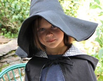 black witch hat, witch hat, wizard hat,